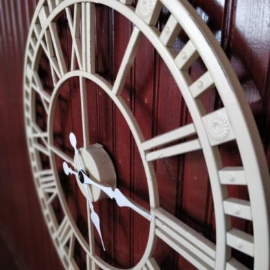 a clock that hangs in our entry hall in Aras GCC