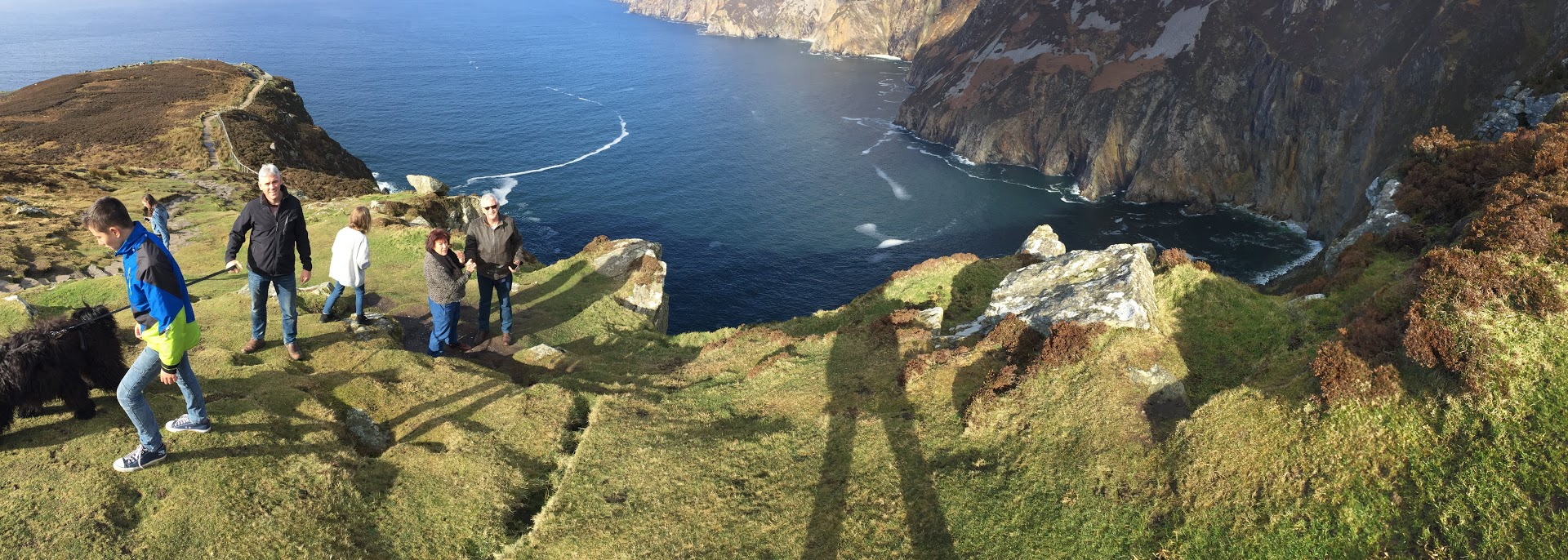 panoramic photo of the trail and slieve league cliffs