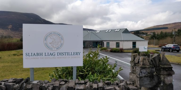 Sliabh Liag Distillery taken from the outside. This tour is one of the best things to do near Glencolmcille.